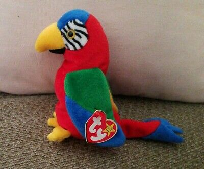 e2c8b362c3c TY BEANIE BABY Jabber The Parrot w tags Birthday October 10