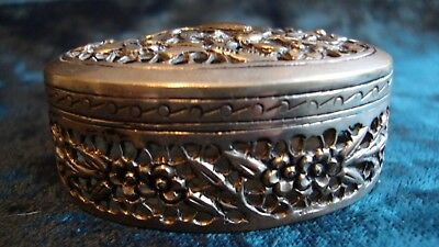 Chinese silver cricket box, character marks to base