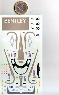 decals decalcomanie deco bentley lm le mans  2001 ex speed 1/43