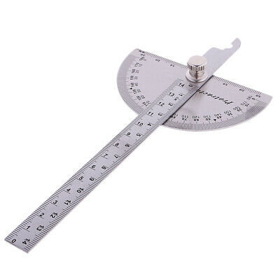 Stainless Protractor Round Head Angle Finder Ruler Machinist Tool 150mmx90mm