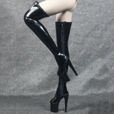 4812106f5ed 12'' ACTION FIGURE Shoes 1/6 Thigh High Boots for Phicen Cy Girls ...