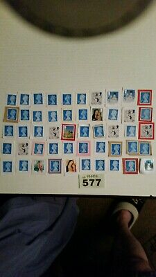 50 2nd class unfranked stamps on paper