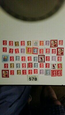 50 1st class unfranked stamps on paper