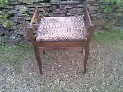 edwardian oak music stool(ideal shabby chic or project)