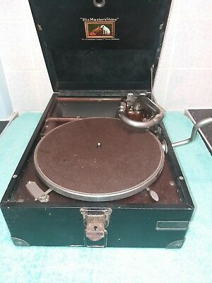 HMV His Master's Voice Portable Gramophone