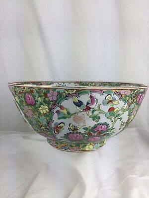 Heavy Quality Japanese Asian Japanese Bowl Flower Bird Gilded Large Bowl