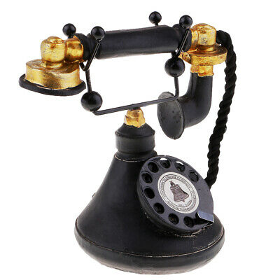 Retro Rotary Phone Corded Wall Mountable Vintage Push Button Dial 7111-34