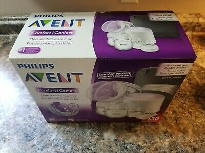 Brand New SEALED Philips AVENT Double Electric Comfort Breast Pump SCF334/12