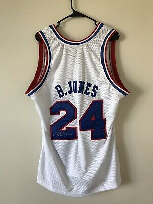 f64bc0336 Authentic Bobby Jones Philadelphia 76ers Sixers Autographed Signed Jersey  Large