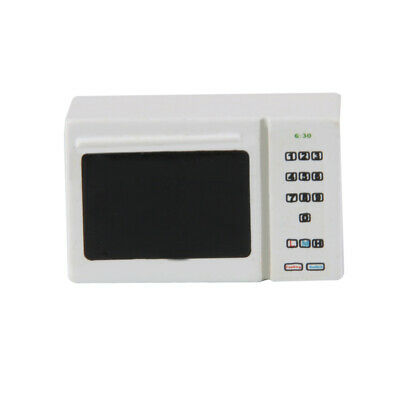 Miniature White Microwave Oven for 1/12 Dollhouse Kitchen Furniture Accs