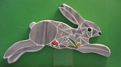Stained Glass Mosaic Hare, Handmade