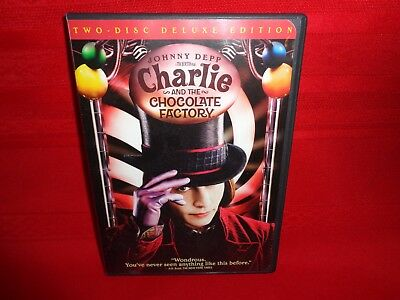 Charlie and the Chocolate Factory (DVD, 2005, 2-Disc Set Deluxe Edition)