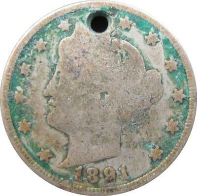 1891 - Usa - Liberty - Five Cent Coin - Nr