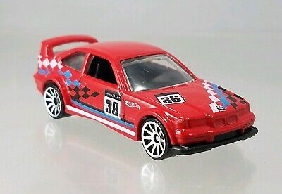 Hot Wheels '94 BMW E36 M3 GTR Race Track Aces Red - 2014