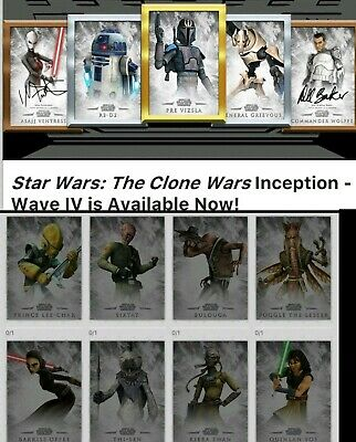 Topps Star Wars Card Trader Clone Wars Inception Wave IV Set - Meld & 2 Awards
