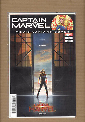CAPTAIN MARVEL #1 MOVIE 1:10 INCENTIVE VARIANT 1st RIPLEY RYAN  2019 NM