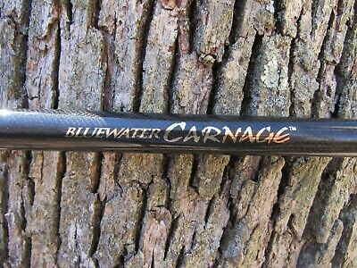 "Penn Blue Water Carnage Carbw800L 7'10"" Boat Casting  Rod ""no Seat"" Cali Style !"