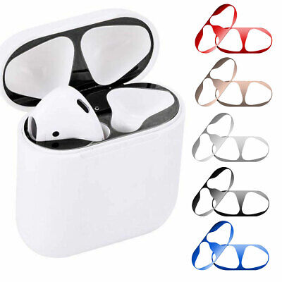Metal Dust Guard Sticker Decal Skin Protector For Apple AirPods Earphones Case