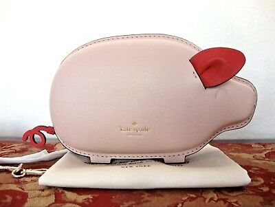 8d7d0d9cd50 NWT AUTHENTIC KATE SPADE NEW YORK little len year of the Pig Leather ...