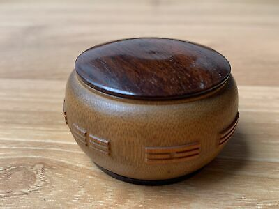 Beautiful Chinese Qing Period Carved Antique Bamboo Scholars Box Rosewood Lid