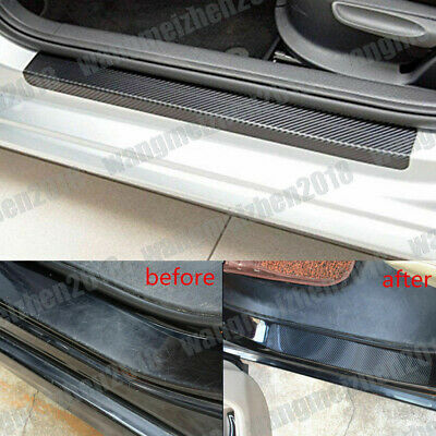 US Carbon Fiber Car Scuff Plate Door Sill 4D Sticker Panel Protector Accessories