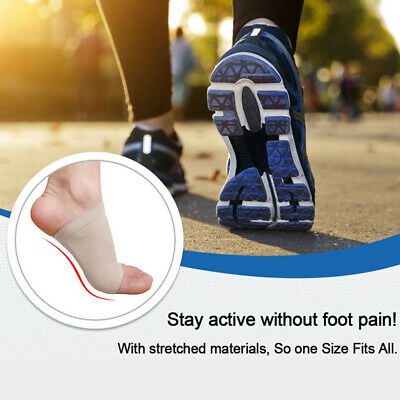 GEL Plantar Fasciitis Foot Heel Arch Support Sleeve Pain Relief Insole Orthoti