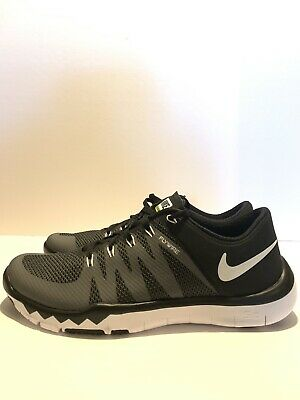 e03063d9d390 Nike Mens Running Shoes Free Trainer 5.0 V6 719922-010 Black White US Size  9.5