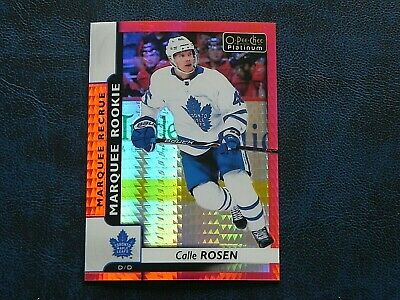 2017-18 17/18 OPC Platinum Red Prism ROOKIE #168 Calle Rosen Maple Leafs / 199