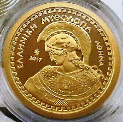 Rare Gold Proof 🅰 Greece 100 Euro 2017 🅰 ancient Goddess Athena🅰 GRECIA GRECE