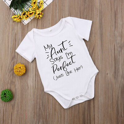 Cute Infant Newborn Baby Boy Girl Cotton Romper Bodysuit Jumpsuit Clothes Outfit