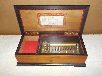 Vintage Thorens Music Box 6 Songs 41 Note Swiss Made Works!