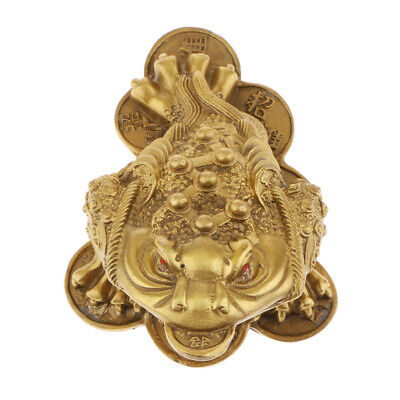 Feng Shui Money Lucky Fortune Oriental Chinese Wealth Lucky Toad Ornament -L