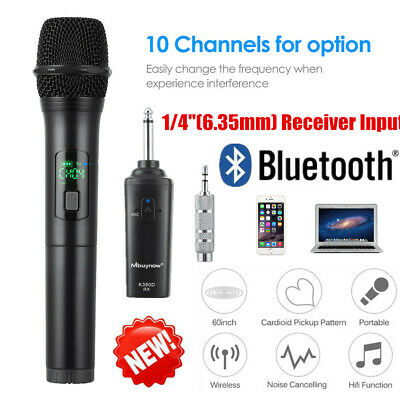 UHF Bluetooth Wireless Headset Microphone System Mic FM Transmitter Receiver