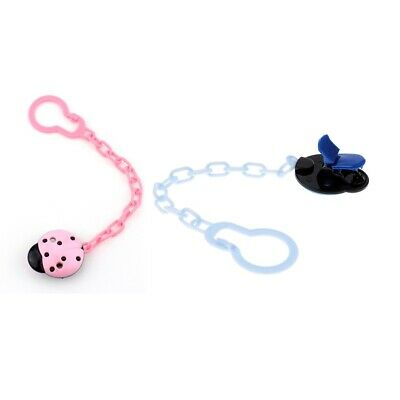 Baby Pacifier Chain Infant Boys Girls Dummy Soother Nipple Clip Holder 2PACK