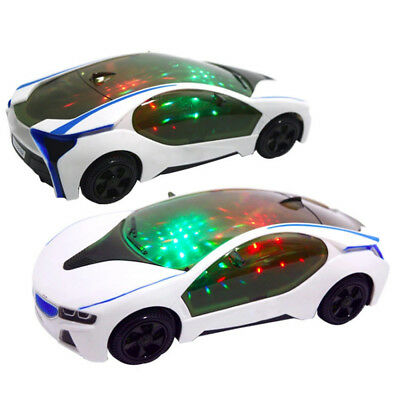 3D Super Car Electric Toy Funny Flashing Light & Sound Music Toy Kids Boy Gift