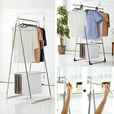Foldable Clothes Airer Laundry Drying Hanger Rack Rail Extendable Top Rail
