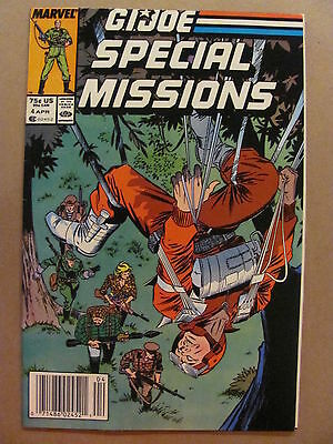 GI Joe Special Missions #4 Marvel Comics 1986 Series Newsstand Edition