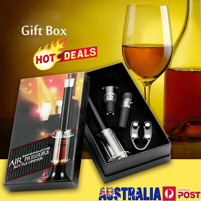 New & Hot Wine Opener Set - Bottle Rocket 4 Piece With Gift Box, FREE SHIPPING #