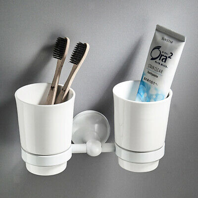 Modern Style Bathroom Gargle Cup Tooth Mug Toothbrush Holder Rack, Two-cup
