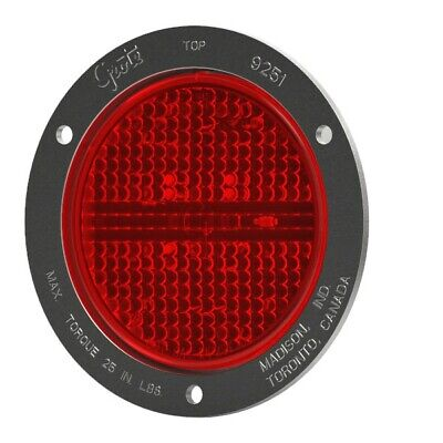 53192 - STT LAMP 4in RED W/SS THEFTRESISTANT FLANGE SUPERNOVA LED  - (1 EA)