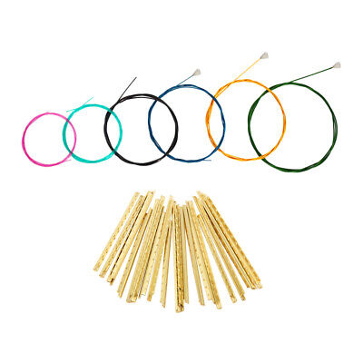 Multi-Colored Guitar Nylon Strings Set+Brass Fretwires for Classical Guitar
