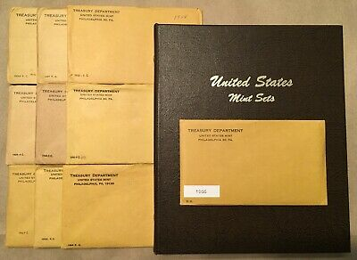 Lot of 10: 1955, 1956 to 1964 US Mint Silver Proof Sets in Dansco Album w/OGPs.