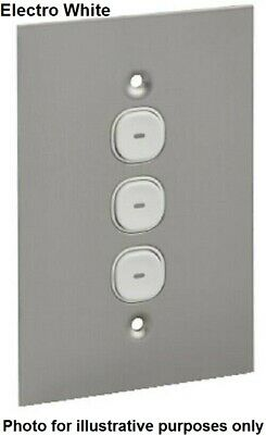 Clipsal PUSH BUTTON LED SWITCH 3-Gangs 20A 250V Vertical Flush, Electro White