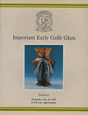 Important Early Galle Glass Russell Bode Collection Auction Catalogue