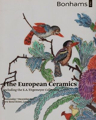 FINE EUROPEAN CERAMICS including TITGEMEYER COLLECTION AUCTION CATALOGUE