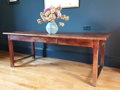 19th Century French Rustic Cherry Farmhouse Table
