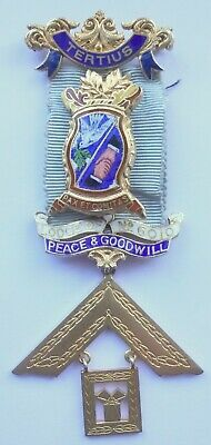 Masonic Silver Past Master Jewel Lodge of Peace and Goodwill No 6010