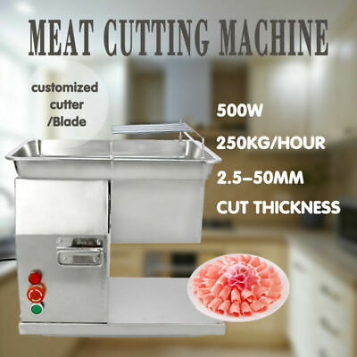 Output Slicer Meat Cutting Machine Cutter with 1 Set of Blade Restaurant 250KG