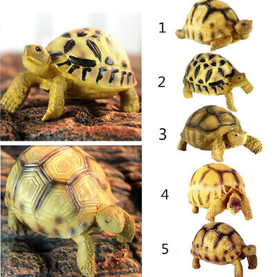 Resin Tortoise Simulated Geochelone Sulcata Turtle Animal Statue Collection