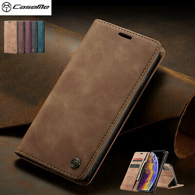 For iPhone XS Max XR 8 7 6 Plus CaseMe Flip Leather Card Wallet Stand Case Cover
